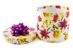 Fleurissez le cadre de cadeau Photos libres de droits