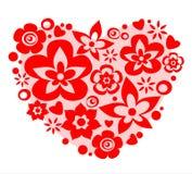 Fleurissez le coeur illustration stock