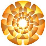 Fleurissez le logo Photographie stock