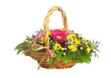 Fleurissez le panier Image stock