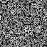 Fleurissez sans joint (les couleurs noires et blanches) Photographie stock