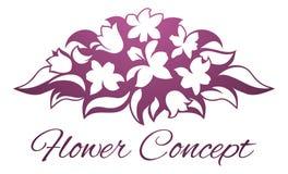 Fleuriste Floral Design Icon de fleur Photographie stock