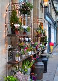 Fleuriste Shop sur la rue Photographie stock libre de droits