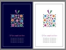 Fleurit des cartes de voeux de cadeau Photos stock