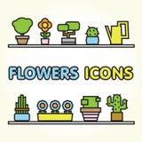 Fleurit des graphismes Photo stock