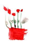 Fleurit des roses dans l'art puéril de dessin de vase d'isolement sur le blanc illustration stock