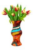 Fleurit des tulipes dans le vase Photos libres de droits