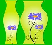 Fleurit des vases en verre de perspicacité illustration stock