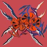 Fleurit l'illustration Composition manuelle Mother& x27 ; jour de s, mariage, anniversaire, Pâques, Valentine& x27 ; Couleurs rou Photos libres de droits