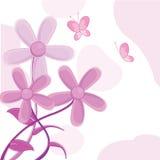 Fleurit la carte de voeux Photographie stock