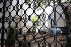 Fleurit la décoration du Fest de patio de cour de vintage, l'Espagne, l'Europe Photos libres de droits