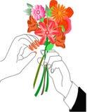 Fleurit le cadeau illustration libre de droits