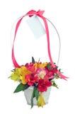 Fleurit le cadeau de bouquet, d'isolement sur le blanc Images stock