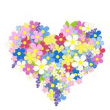fleurit le coeur effectu? illustration stock