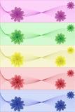 Fleurit le drapeau d'abstraction illustration de vecteur