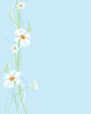 Fleurit le fond verticalement Image stock