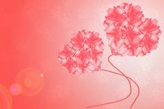 Fleurit le globe de fond de coeur Photo stock