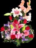 Fleurit le panier Photos stock