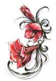 fleurit le rouge Images libres de droits