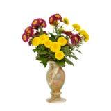 fleurit le vase à pierre d'onyx Images stock