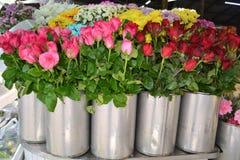 Fleurs à vendre au marché Photo libre de droits