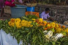 Fleurs à vendre dans Mumbai Image stock