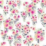 Fleurs écervelées d'aquarelle Image libre de droits