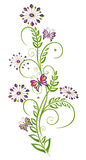 Fleurs, élément floral Photos stock