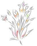 Fleurs abstraites illustration de vecteur