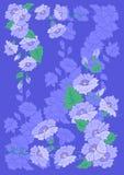 Fleurs abstraites avec le fond Illustration de Vecteur