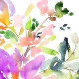 Fleurs abstraites d'aquarelle illustration libre de droits