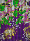 Fleurs abstraites de batik sur le style tricoté Image libre de droits