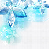 Fleurs abstraites de bleu de fond. Illustrat de vecteur Photos stock