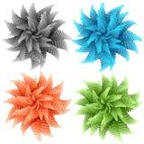 Fleurs abstraites de couleur Images libres de droits