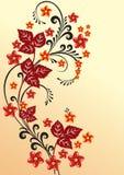 fleurs abstraites de fond Images stock