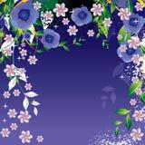 fleurs abstraites de fond Photo stock