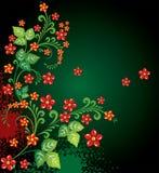 fleurs abstraites de fond Images libres de droits