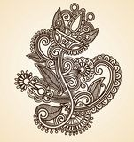 Fleurs abstraites de Mendie de henné Photographie stock