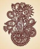 Fleurs abstraites de Mendie de henné Photos stock