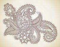 Fleurs abstraites de Mendie de henné Photographie stock libre de droits