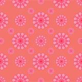 Fleurs abstraites sur le fond rose Images libres de droits