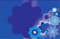 Fleurs abstraites sur un background1 rayé. Illustration de Vecteur