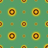 Fleurs abstraites sur un fond vert Image libre de droits