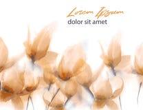 Fleurs abstraites tirées par la main d'aquarelle photographie stock
