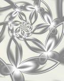 Fleurs argentées illustration stock