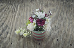 Fleurs artificielles Photographie stock