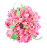Fleurs artificielles de papier avec la sucrerie, d'isolement Photo stock