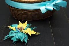 Fleurs artificielles faites de cuir coloré photographie stock