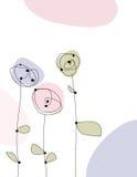 Fleurs artistiques illustration libre de droits