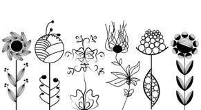 Fleurs artistiques réglées Image libre de droits